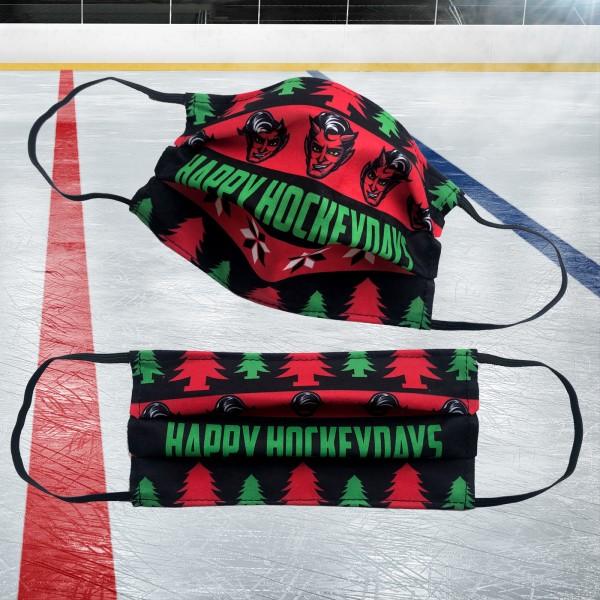 """Weihnachtliche Gesichtsmaske """"Happy Hockeydays"""""""