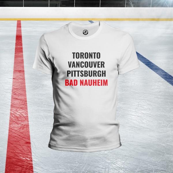 Eishockeystädte T-Shirt Herren