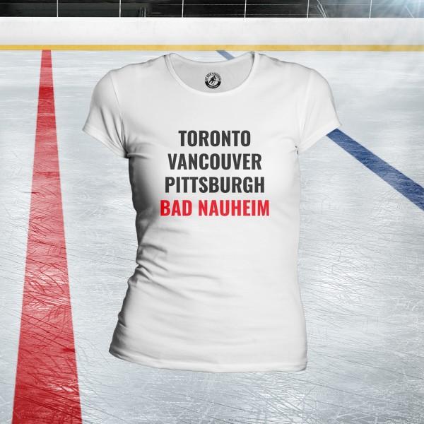 Eishockeystädte T-Shirt Damen